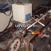 induction annealing steel umbrella ribs by 40KW induction heater (UM-40AB-HF)
