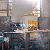 induction annealing umbrella ribs by 60KW induction heater (UM-60AB-UHF)