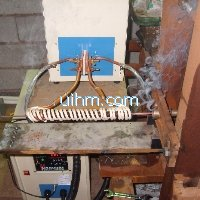 induction tempering steel wire online by 40KW induction heater (UM-40AB-HF)