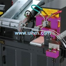 Induction auto forging system for steel rod (steel bar)