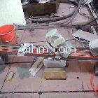 induction heating total steel plate in one big induction coil