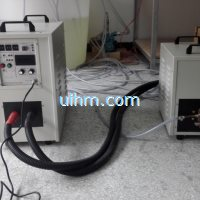 induction annealing with U shape double ear induction coil