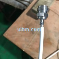 induction brazing N type cable connector