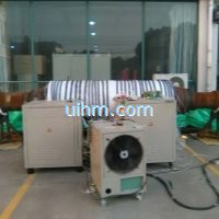 induction preheating turbine-shaft by full air cooled DSP induction heater