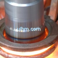 induction quenching axle by uhf induction heating machine