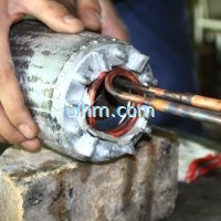 induction shrink fitting aluminum motors stators rotors