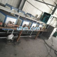 induction tempering steel wire online by multi induction heaters