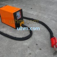 handheld induction heating machine for heating steel surface