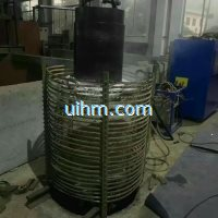 induction heating large steel pipe by MF induction heater