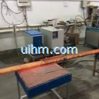 induction forging long steel rods by MF machine