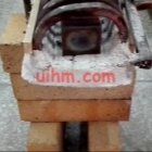 induction heating steel block by rf induction heater
