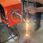 melting stainless steel rod by uhf induction heater